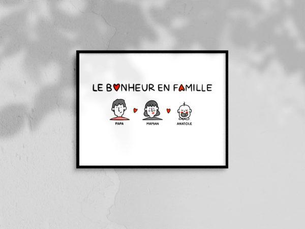 Affiche A4 - crise de bonheur en famille - home