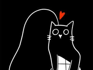Affiche A4 - Câlin chat produit