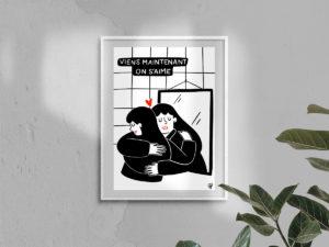 Affiche A4 - On s'aime - Banniere