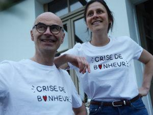 t-shirt crise de bonheur